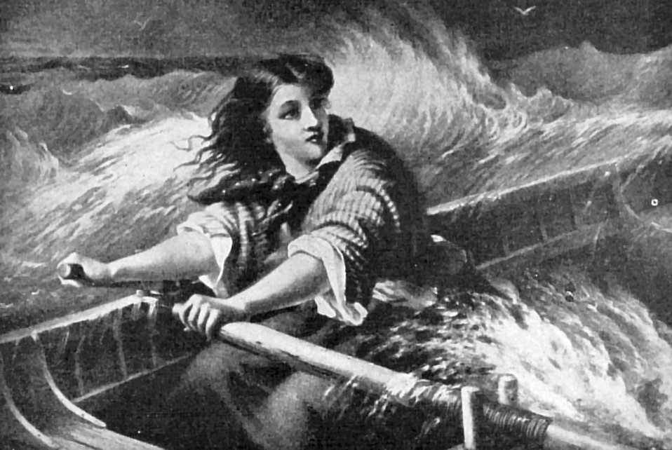 14027-vintage-illustration-of-a-woman-rowing-a-boat-on-rough-seas-pv
